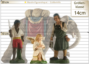 Krippe-Figur Größe Hilfe 14 cm