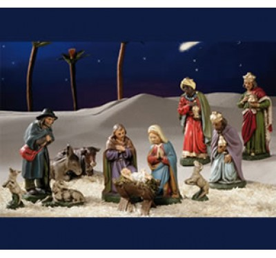 Krippe komplett, Christi Geburt Set 1, 11cm