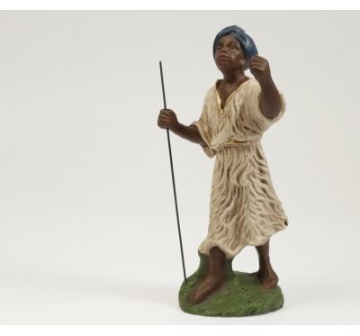 Kamel-Treiber, dunkelbraun, blauer Turban, 11cm, auch zu 12cm passend