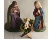 Heilige Familie, mit Holzkrippe Set 5, 11cm