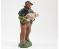 Hirte mit Schaf im Arm, 11cm