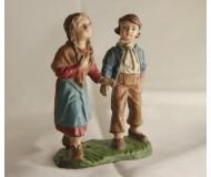 Krippen-Figur-Hirte-Knabe-mit-Mädchen-11cm