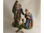 Heilige Familie, Set 4, 12cm (Holzkr.)