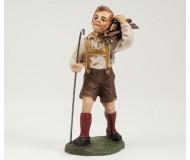 Junge mit Holzbündel, 12cm