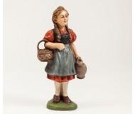 Hirten-Mädchen mit Korb und Kanne, 12cm