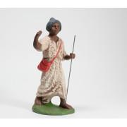 Krippenfigur-Kamel-Treiber-Kameltreiber-Figur-blauer-Turban