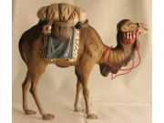 Kamel mit Gepäck (blau), 14cm
