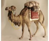 Kamel, mit Gepäck (rot), 14cm