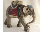 Elefant mit Gepäck, 14cm