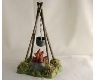 Feuer-Stelle mit Kessel, 14cm
