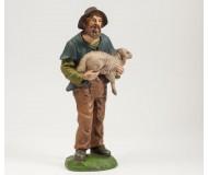 Hirte mit Schaf, 14cm