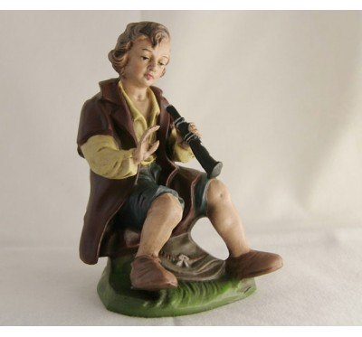 Hirte sitzend, mit Flöte, 17cm