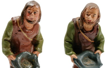 Neue alte Krippenfiguren im Online-Shop, Unterschiedliche Größen mit vielen Details.