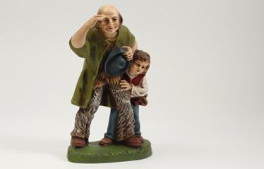 Krippenfiguren im Online-Shop. Hirte mit seinem Sohn, seinem Jungen