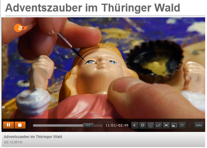 Filmbeitrag zu Weihnachten in Thüringen. Manufakturen und Krippenfiguren.